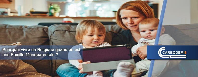 Une famille monoparentale en Belgique