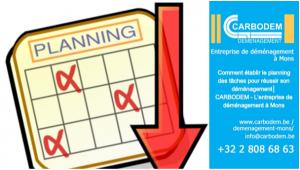 Comment établir le planning des tâches pour réussir son déménagement│ CARBODEM - L'entreprise de déménagement à Mons
