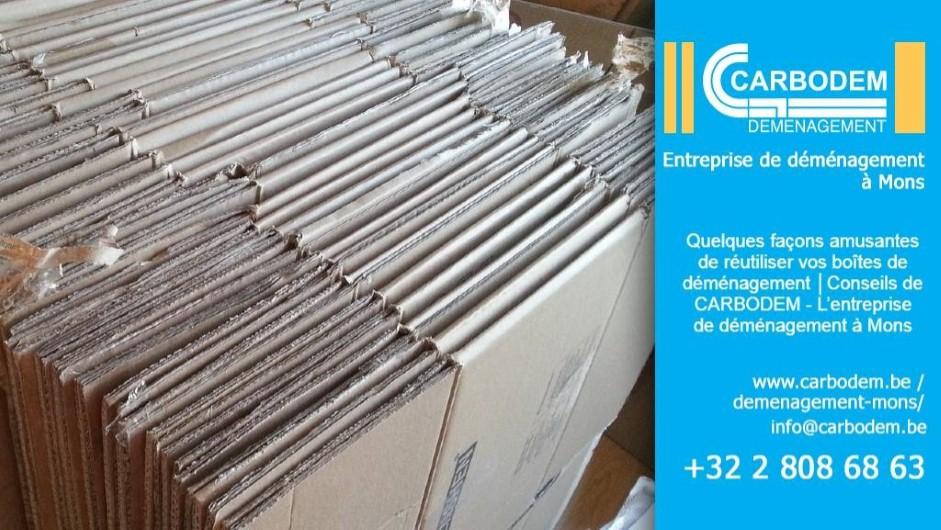 Quelques façons amusantes de réutiliser vos boîtes de déménagement │Conseils de CARBODEM - L'entreprise de déménagement à Mons