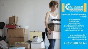 Les conseils de CARBODEM – L'Entreprise de Déménagement à Mons pour emballer vos cartons comme un pro