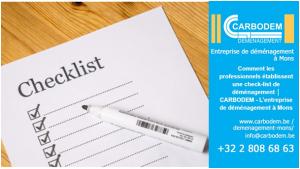 Comment les professionnels établissent une check-list de déménagement │ CARBODEM - L'entreprise de déménagement à Mons